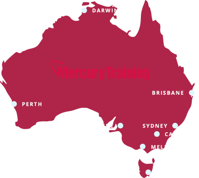map showing the locations Mercury Training operate